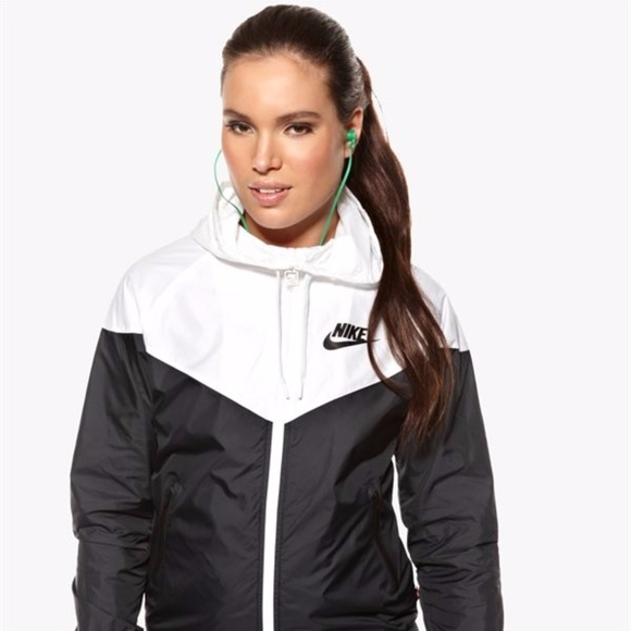 get new reasonably priced online for sale Black and White Nike Windbreaker